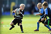 General action from half-time tag rugby. Aviva Premiership match, between Bath Rugby and Newcastle Falcons on September 23, 2017 at the Recreation Ground in Bath, England. Photo by: Patrick Khachfe / Onside Images