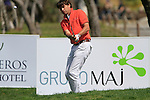 Robert-Jan Derksen (NED) chips onto the 18th green during Day 1 Thursday of the Open de Andalucia de Golf at Parador Golf Club Malaga 24th March 2011. (Photo Eoin Clarke/Golffile 2011)