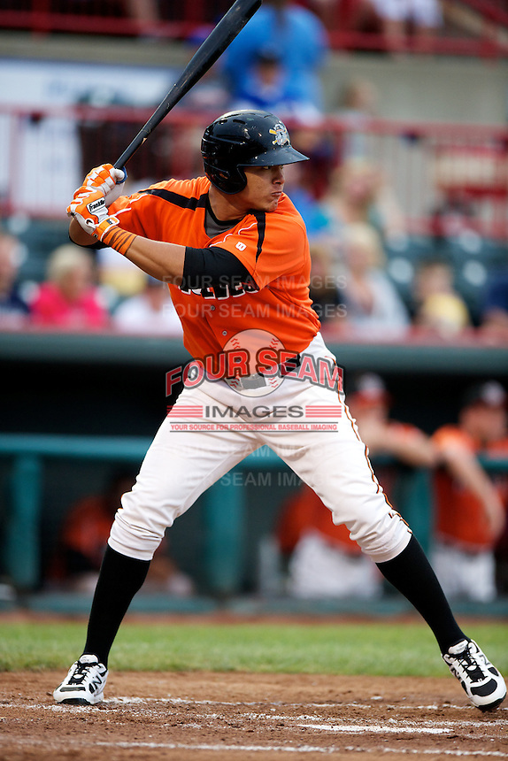 Erie Seawolves outfielder Avisail Garcia #24 during an Eastern League game against the New Hampshire Fisher Cats at Jerry Uht Park on August 9, 2012 in Erie, Pennsylvania.  Erie defeated New Hampshire 6-0.  (Mike Janes/Four Seam Images)