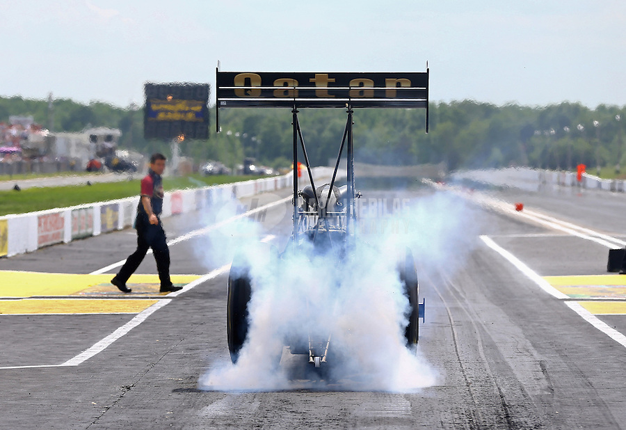 Jun. 2, 2013; Englishtown, NJ, USA: NHRA top fuel dragster driver Khalid Albalooshi during the Summer Nationals at Raceway Park. Mandatory Credit: Mark J. Rebilas-