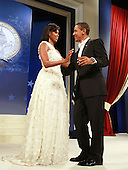 Washington, DC - January 20, 2009 -- United States President Barack Obama and his wife Michelle dance at the Obama Homes States Ball, one of ten official inaugural balls January 20, 2009 in Washington DC.  Obama was sworn in as the 44th President of the United States, becoming the first African-American to be elected to the presidency.  .Credit: Mark Wilson - Pool via CNP