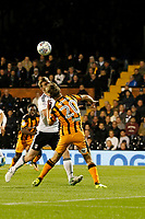 Jarrod Bowen of Hull City heads for goal during the Sky Bet Championship match between Fulham and Hull City at Craven Cottage, London, England on 13 September 2017. Photo by Carlton Myrie.