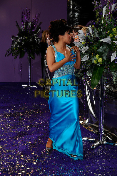 ROXANNE PALLETT.Emmerdale.British Soap Awards 2008.BBC Wood Lane.3rd May 2008.full length blue dress.CAP/CAN.© Can Nguyen/Capital Pictures