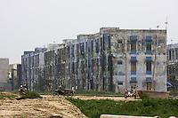 Communist-style appartment blocks next to Nam O Beach.