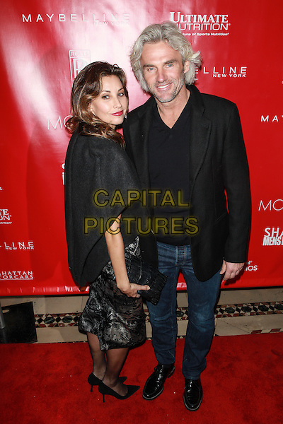 New York, NY- January 31: Gina Gershon &amp; guest at Shape &amp; Men's Fitness Kickoff Party at Cipriani 42nd Street on January 31, 2014 in New York City.  <br /> CAP/MPI/COR<br /> &copy;Corredor99/ MediaPunch/Capital Pictures