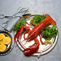 Lobster prepared for elegant dinner.