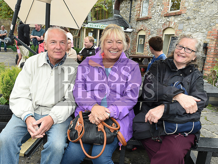 Tom and Jane Anderson and Anne Keenan pictured at the 'Battle of Julianstown' play at Sonairte in Laytown. Photo:Colin Bell/pressphotos.ie