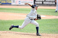 Trenton Thunder Starting Pitcher Hector Noesi (19) during a game vs. the Erie Seawolves at Jerry Uht Park in Erie, Pennsylvania;  June 24, 2010.   Trenton defeated Erie 11-2.  Photo By Mike Janes/Four Seam Images
