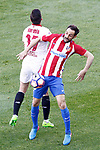 Atletico de Madrid's Juanfran Torres (r) and Sevilla FC's Pablo Sarabia during La Liga match. March 19,2017. (ALTERPHOTOS/Acero)