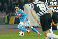 Jose Callejon   in action during the Italian Serie A soccer match between SSC Napoli and Juventus FC   at San Paolo stadium in Naples, March 30 , 2014