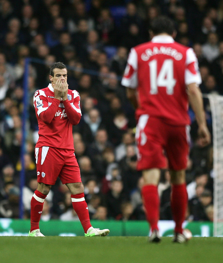 Dejected Queens Park Rangers' Ryan Nelsen ..Football - Barclays Premiership - Tottenham Hotspur v Queens Park Rangers - Sunday 23rd September 2012 - White Hart Lane - London..