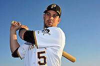 Feb 28, 2010; Bradenton, FL, USA; Pittsburgh Pirates  infielder Ramon Vazquez (5) during  photoday at Pirate City. Mandatory Credit: Tomasso De Rosa/ Four Seam Images