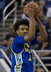 San Jose State guard  Seneca Knight (23) looks to pass the ball against Nevada in the second half of an NCAA college basketball game in Reno, Nev., Wednesday, Jan. 9, 2019. (AP Photo/Tom R. Smedes)