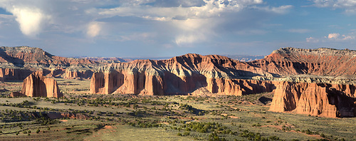 Cathedral Valley at sunset at Capitol Reef National Park, Utah