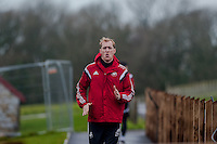 SWANSEA, WALES - JANUARY 28:  Gerhard Tremmel of Swansea City jogs along prior to training on January 28, 2015 in Swansea, Wales.
