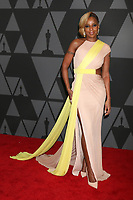 HOLLYWOOD, CA - NOVEMBER 11: Mary J Blige at the AMPAS 9th Annual Governors Awards at the Dolby Ballroom in Hollywood, California on November 11, 2017. <br /> CAP/MPI/DE<br /> &copy;DE/MPI/Capital Pictures