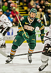17 October 2015:  University of Vermont Catamount Forward Liam Coughlin, a Freshman from South Boston, MA, in second period action against the University of Nebraska Omaha Mavericks at Gutterson Fieldhouse in Burlington, Vermont. The Catamounts fell to the Mavericks 3-1. Mandatory Credit: Ed Wolfstein Photo *** RAW (NEF) Image File Available ***