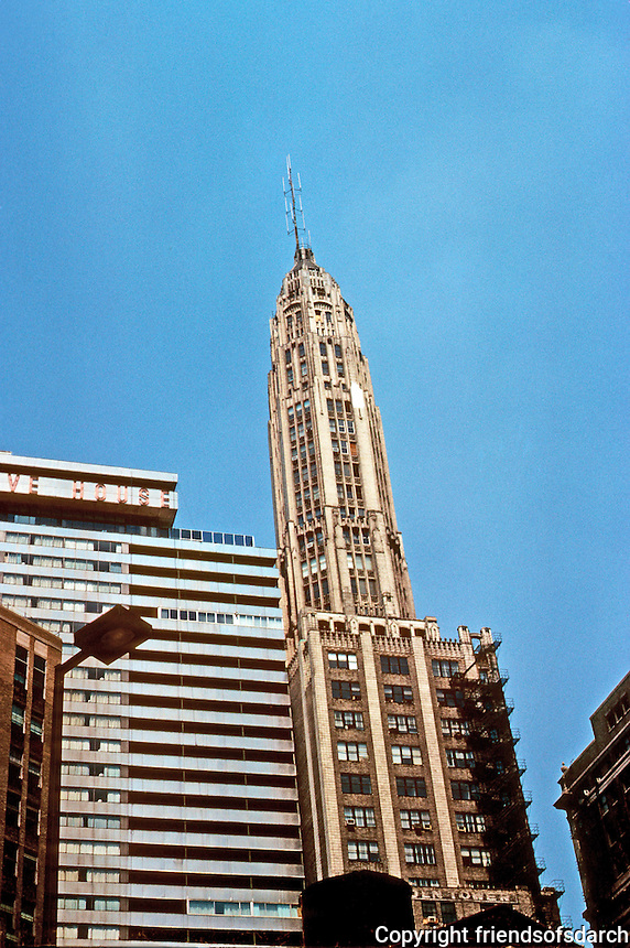 Chicago: Chicago Skyline--Wacker Drive. Pure Oil Tower. Photo '77.