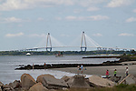 Arthur Ravenel Jr Bridge From Sullivans Island SC