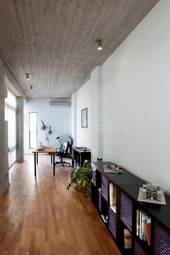 industrial style hallway