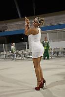SAO PAULO, SP, 12 DE FEVEREIRO 2012 - ENSAIO MANCHA VERDE - A modelo Tassiana Dunamis, e vista no Ensaio técnico da Escola de Samba Mancha Verde na preparação para o Carnaval 2012. O ensaio foi realizado na noite deste domingo (12/02) no Sambódromo do Anhembi, zona norte da cidade. (FOTO: RICARDO LOU - NEWS FREE).