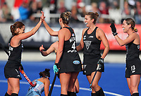 L-R: Ella Gunson, Olivia Merry, Brooke Neal and Samantha Charlton during the Pro League Hockey match between the Blacksticks women and Argentina, Nga Punawai, Christchurch, New Zealand, Sunday 1 March 2020. Photo: Simon Watts/www.bwmedia.co.nz