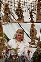 Vendor at Folklore Festival in Vilnius,Lithuania