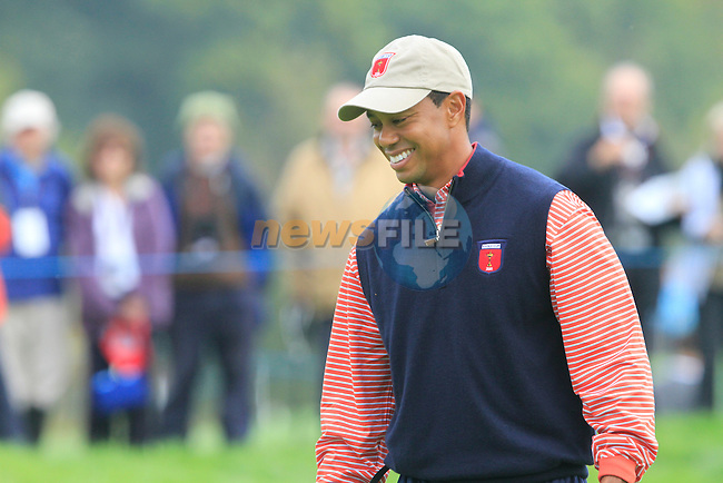 Tiger Woods on the 7th green during Practice Day 3 of the The 2010 Ryder Cup at the Celtic Manor, Newport, Wales, 29th September 2010..(Picture Eoin Clarke/www.golffile.ie)