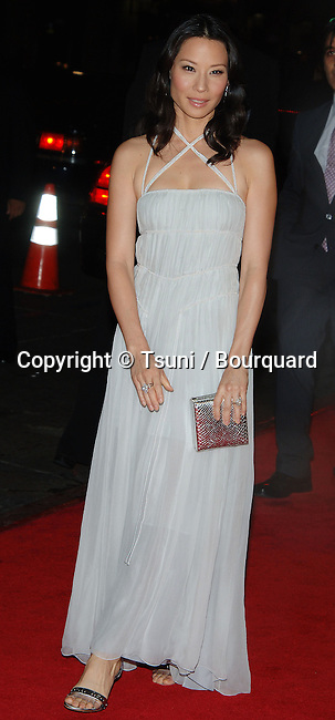 Lucy Liu arriving at the DOMINO Premiere at the Chinese Theatre in Los Angeles. October 11, 2005.