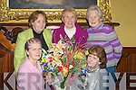 ARRANGEMENT; The ladies from the Tralee Flower & Garden Club launched their Gala Christmas Flower show in the Grand Hotel, Tralee on Monday night, L-r: Kathleen Reidy, Norrie Barry, Phil Daly and Joan Murphy......................................... ....................