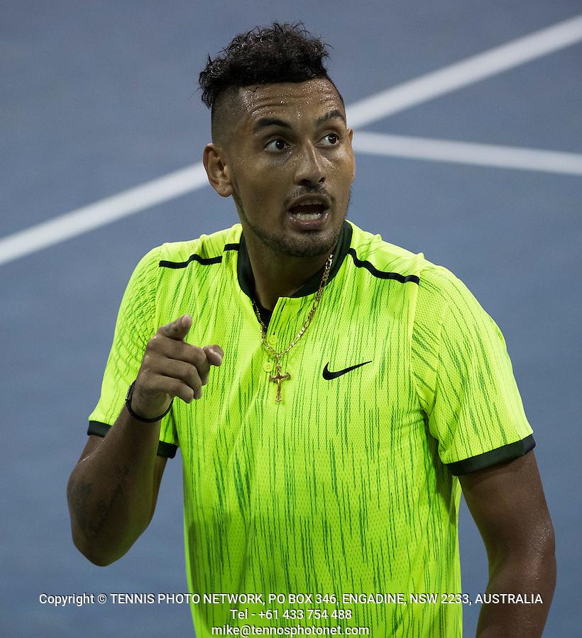 NICK KYRGIOS (AUS)<br /> <br /> TENNIS - THE US OPEN - FLUSHING MEADOWS - NEW YORK - ATP - WTA - ITF - GRAND SLAM - OPEN - NEW YORK - USA - 2016  <br /> <br /> <br /> <br /> &copy; TENNIS PHOTO NETWORK