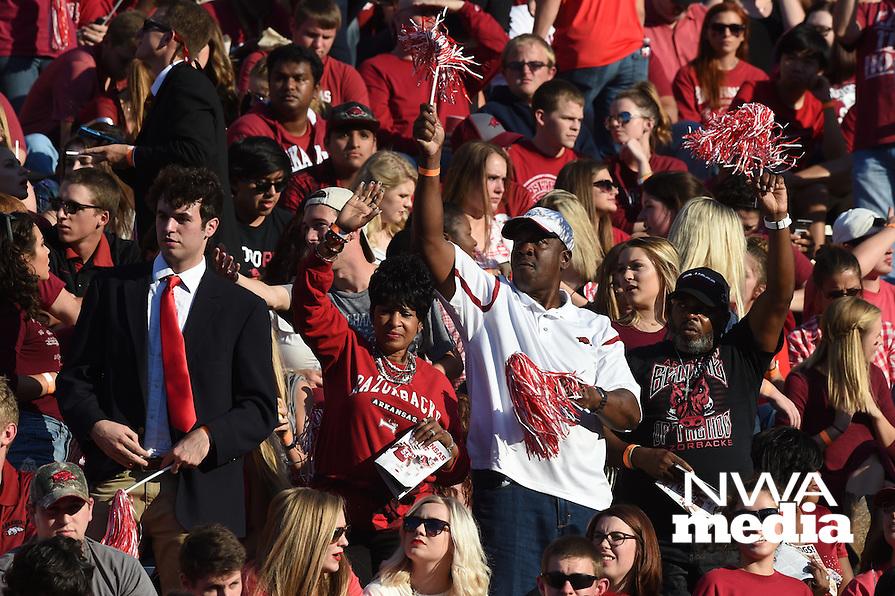 NWA Democrat-Gazette/MICHAEL WOODS &bull; @NWAMICHAELW<br /> University of Arkansas Razorbacks vs Ole Miss Saturday, October 15, 2016 at Razorback Stadium in Fayetteville.