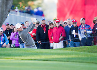 Thomas Pieters (Team Europe) on the 6th  during the Saturday morning Foursomes at the Ryder Cup, Hazeltine national Golf Club, Chaska, Minnesota, USA.  01/10/2016<br /> Picture: Golffile | Fran Caffrey<br /> <br /> <br /> All photo usage must carry mandatory copyright credit (&copy; Golffile | Fran Caffrey)