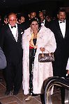 Aretha Franklin and Clive Davis.Attending a party at the Hilton Hotel, New York City. 4/9/1990.