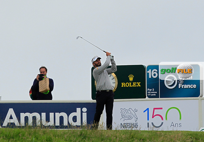 Joost Luiten (NED) on the 16th tee during Round 4 of the 100th Open de France, played at Le Golf National, Guyancourt, Paris, France. 03/07/2016. <br /> Picture: Thos Caffrey | Golffile<br /> <br /> All photos usage must carry mandatory copyright credit   (&copy; Golffile | Thos Caffrey)
