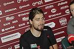 World Champions Peter Sagan (SVK) Bora-Hansgrohe and Amalie Dideriksen (DEN) Boels-Dolmans press conference held in Palazzo Sansedoni, Siena, Tuscany, Italy 3rd March 2017.<br /> Picture: Eoin Clarke | Newsfile<br /> <br /> <br /> All photos usage must carry mandatory copyright credit (&copy; Newsfile | Eoin Clarke)