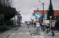 safety volunteer at work<br /> <br /> 51th Le Samyn 2019 <br /> Quaregnon to Dour (BEL): 200km<br /> <br /> ©kramon