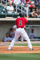 Marcus Lemon (2) of the Birmingham Barons at bat against the Tennessee Smokies at Regions Field on May 4, 2015 in Birmingham, Alabama.  The Barons defeated the Smokies 4-3 in 13 innings. (Brian Westerholt/Four Seam Images)