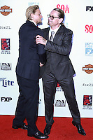 HOLLYWOOD, LOS ANGELES, CA, USA - SEPTEMBER 06: Charlie Hunnam, Kurt Sutter arrive at the Los Angeles Premiere Of FX's 'Sons Of Anarchy' Season 7 held at the TCL Chinese Theatre on September 6, 2014 in Hollywood, Los Angeles, California, United States. (Photo by David Acosta/Celebrity Monitor)