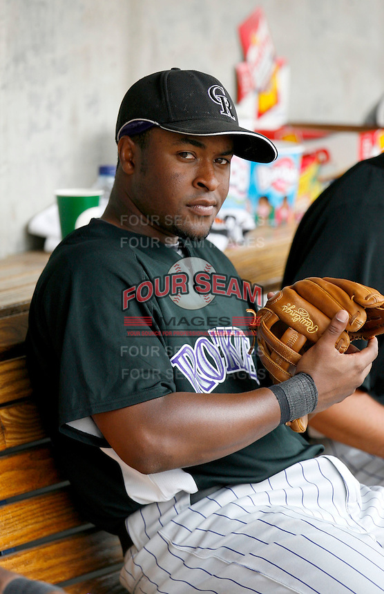Chris Nelson - Colorado Rockies - 2009 spring training.Photo by:  Bill Mitchell/Four Seam Images