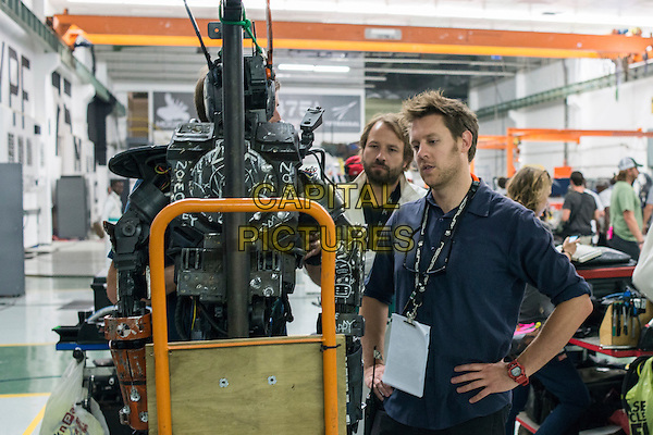 Neill Blomkamp (Director)<br /> on the set of Chappie (2015) <br /> *Filmstill - Editorial Use Only*<br /> CAP/FB<br /> Image supplied by Capital Pictures