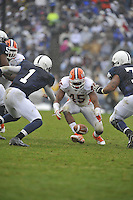 29 October 2011:  Illinois LB Jonathan Brown (45) recovers a fumble from Penn State QB Rob Bolden (1). The Penn State Nittany Lions defeated the Illinois Fighting Illini 10-7 to at Beaver Stadium in State College, PA..
