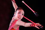 Sakura Hayakawa (JPN), <br /> OCTOBER 4, 2015 - Rhythmic Gymnastics : <br /> AEON CUP 2015 Worldwide R.G. Club Championships <br /> exhibition event<br /> at Tokyo Metropolitan Gymnasium, Tokyo, Japan. <br /> (Photo by AFLO SPORT)