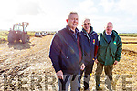 JP Corridan (Sec Ballyheigue Pluoghing Club) with judges Jim Grace and John Culhane at the Ballyheigue ploughing match on Sunday.