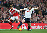 Arsenal's Alex Oxlade-Chamberlain tusles with Tottenham's Jan Vertonghen during the Premier League match at the Emirates Stadium, London. Picture date November 6th, 2016 Pic David Klein/Sportimage