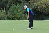 Alex Gleeson from Ireland on the 18th during Round 3 Singles of the Men's Home Internationals 2018 at Conwy Golf Club, Conwy, Wales on Friday 14th September 2018.<br /> Picture: Thos Caffrey / Golffile<br /> <br /> All photo usage must carry mandatory copyright credit (&copy; Golffile | Thos Caffrey)