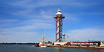 Dobbins Landing And The Bicentenial Tower On A Sunny Day During The Perry 200 Commemoration, September 2013, Erie Pennsylvania, USA