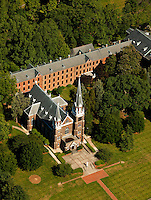 Aerial photography over Charlotte, NC, and the surrounding areas from May 2009. Photos by Charlotte photographer Patrick Schneider Photography. Photo of Belmont Abbey College.