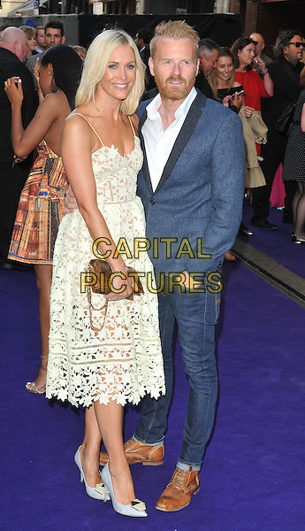 Jenni Falconer &amp; James Midgley at the &quot;Disney's Aladdin&quot; press night, Prince Edward Theatre, Old Compton Street, London, England, UK, on Wednesday 15 June 2016.<br /> CAP/CAN<br /> &copy;CAN/Capital Pictures