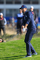 Webb Simpson (Team USA) on the 9th during Saturday Foursomes at the Ryder Cup, Le Golf National, Ile-de-France, France. 29/09/2018.<br /> Picture Thos Caffrey / Golffile.ie<br /> <br /> All photo usage must carry mandatory copyright credit (© Golffile | Thos Caffrey)